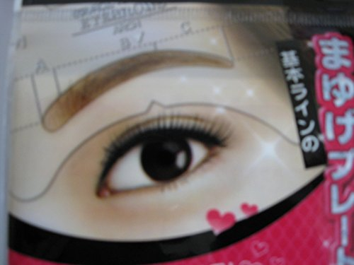 Eyebrow Grooming Beauty Tools Plastic Brow Drawing Shaping Template Eyebrow Stencil Card by Eyebrow Drawing