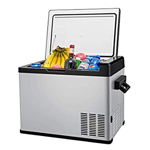 Car Chest Freezer 53 Quart, DC12/24V AC110V Compressor Travel Cooler -13°F~68°F, Portable Vehicle Refrigerator Fridge Freezer for Home, Truck, RV, Boat