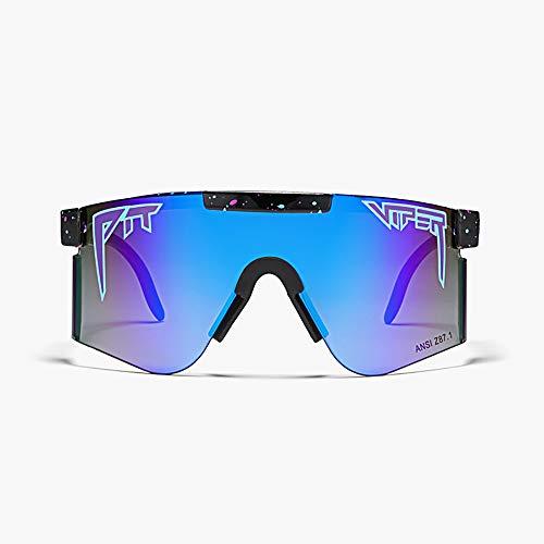 TTAototech Gafas de Sol Al Aire Libre, Gafas Al Aire Libre a Prueba de Viento, Lentes Espejados, Gafas de Sol Deportivas Polarizadas Coloridas para Ciclismo de Béisbol, Pesca, Correr