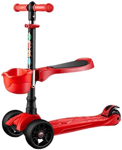 Faltbare Adult Roller Roller nicht-elektrischer Klapp Campus Roller Kinderspiel Auto (Farbe: rot)
