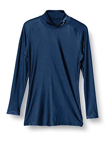 [ミズノ] トレーニングウェア コンプレッションドライアクセルバイオギアシャツ ハイネック長袖 吸汗速乾 ストレッチ 紫外線カット メンズ ドレスネイビー 日本 XL (日本サイズXL相当)