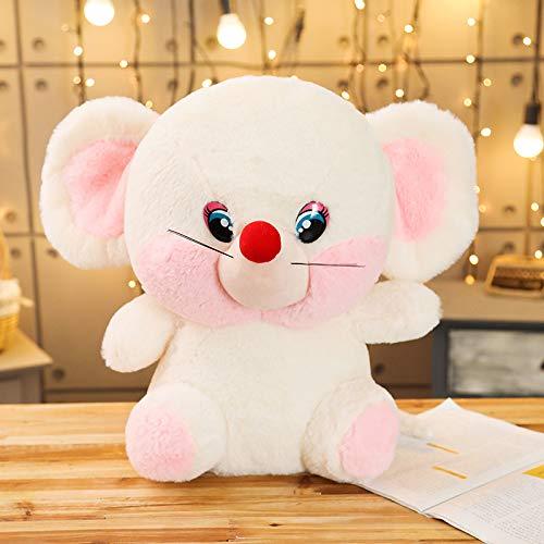 Pluche Grote Ogen Muis Speelgoed, Knuffel Pop Rat Muizen, Baby Kinderen Kinderen Verjaardagscadeau, Winkel Home Decor 40Cm (Wit)