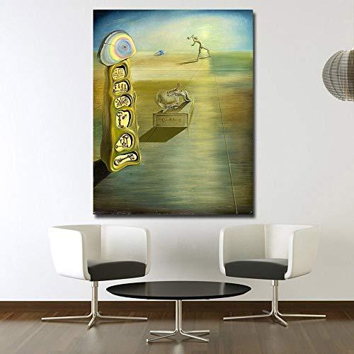 WJY Wxkoil Salvador Dali-Sin título Pintura para Sala de Estar Decoración para el hogar Arte de la Pared Pintura al óleo Impresión sobre Lienzo Pintura de la Pared 60cm x90cm No Frame