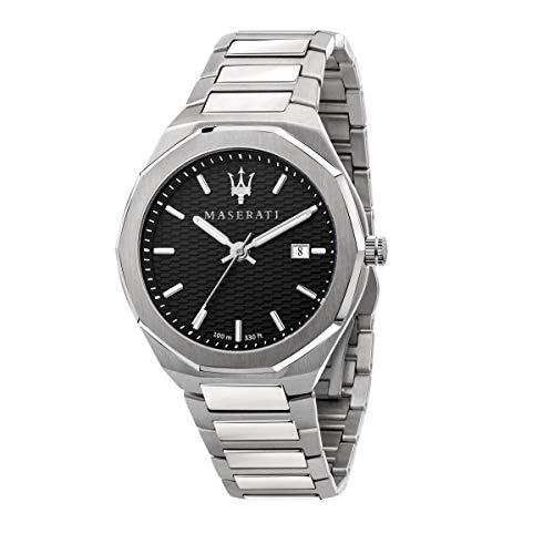 Maserati Reloj Hombre, Colección Stile, Cuarzo, Tiempo y Fecha, en Acero - R8853142003
