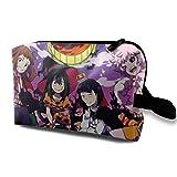 Anime My Hero Academia Halloween Cosméticos Bolsa para Mujeres Gran Capacidad Maquillaje Bolsas de Viaje Neceser Accesorios Organizador