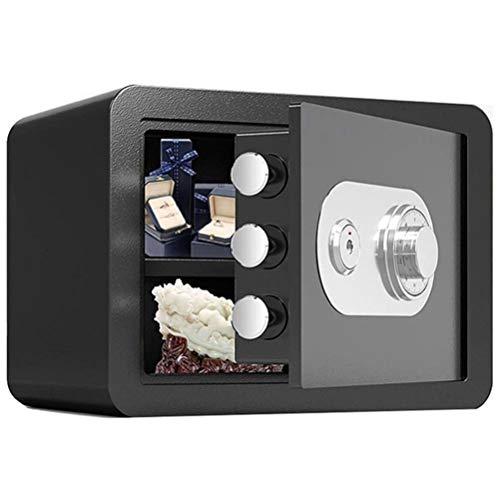 Tresore-SYY Kleine Safes, Feuerfester Stahlschrank for Firmenbüro, Mechanisches Passwort, 25 cm / 30 cm, 4 Farben (Color : Black, Size : 30cm)