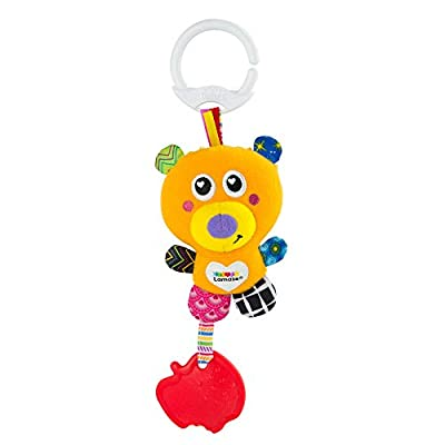 LAMAZE L27527 Basha The Bear Pushchair & Pram Toys, Multicoloured