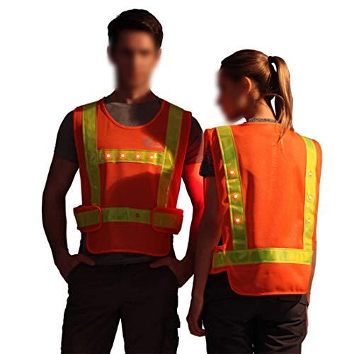 WAVENI Chaleco reflectante seguridad alta visibilidad