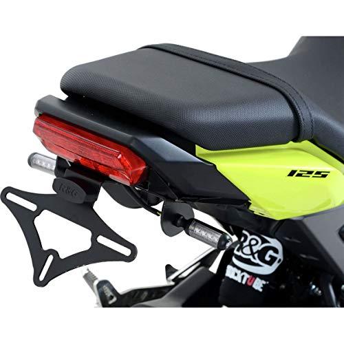 R&G RACING Support de Plaque Noir Compatible Micro Clignotants Honda msx125