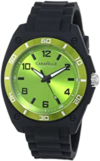 Caravelle New York Men's 45A113 Analog Display Japanese Quartz Black Watch