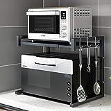 Rejilla extensible para horno microondas Pusdon, estante ajustable para microondas /...