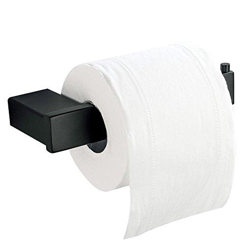 CASEWIND Einfach Toilettenpapierhalter Klorollenhalter Papierhalter, Amerikanisch Schwarz Cool Stil Edelstahl Konstruktion für WC Toilette Wandmontag