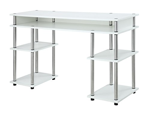 Convenience Concepts Designs2Go No Tools Student Desk, White
