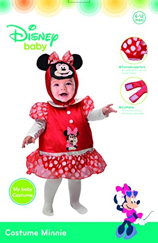 Ciao-Baby Minnie costume tutina fagottino Disney, 6-12 mesi Unisex bambini, 11256.6-12