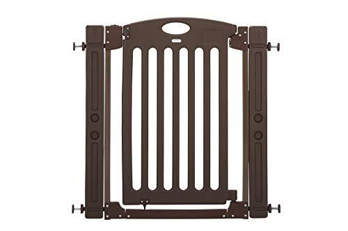 階段上で使えるゲート 拡張(追加)フレーム2個付き [ブラウン]