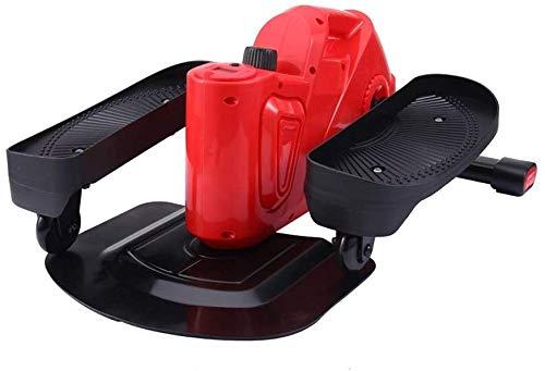 Hammer Escritorio magnetrón elíptica Mini de Pasos - Debajo del Escritorio elíptico Steppers for el Ejercicio, Escritorio Pedal ejercitador con diseño único (Color : Red)