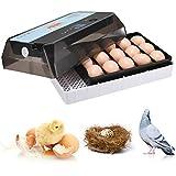 S SMAUTOP Incubatrici Automatiche, 15 incubatrici digitali Automatiche per pollame, con Controllo della Temperatura, visualizzazione dei Giorni di incubazione
