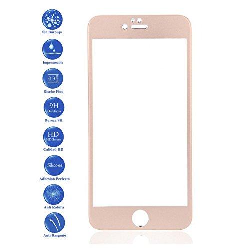 Todotumovil Protector de Pantalla iPhone 7 Plus Dorado Completo 3D Cristal Templado...