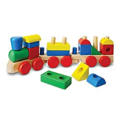 Melissa & Doug Stacking Train - wood toy