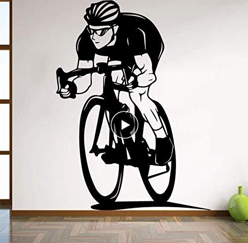 Zelfklevende muurstickers voor de fiets ter decoratie van de slaapkamer van de jongens, fietstas voor woonkamer, decoratie voor binnen, kunst, slaapplaats, Studio Club Art Mural, 58 cm x 80 cm