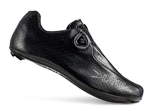 Lake CX301 Fahrradschuhe für Herren, ultraleicht, kompatibel, Schwarz, 7,75