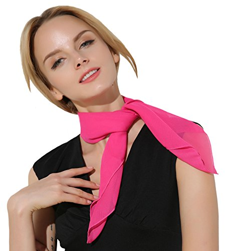 Bandana Damen Halstuch Kopftuch Nickituch Pink Chiffonschal für Kostüm
