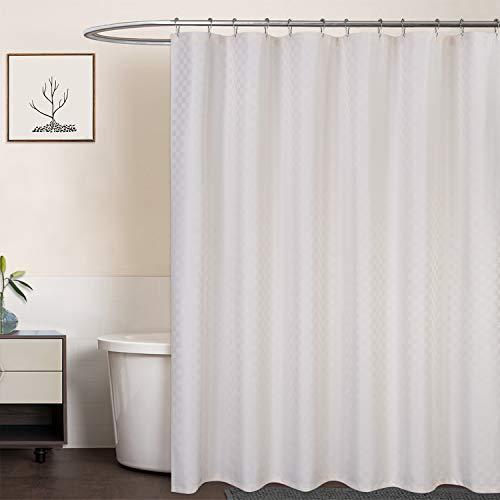 LinTimes Duschvorhang Creme, Hotel Luxury 190 GSM Thick Polyester Duschvorhang Shower Curtain, Creme, 180x180 cm (Verpackung MEHRWEG)
