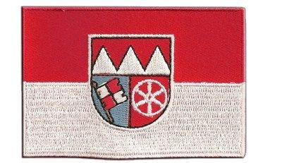 Aufnäher Patch Flagge Deutschland Unterfranken - 8 x 6 cm