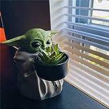 WOO - Guerra Galaxias Maceta,Mandalorian Baby Yoda Película Clásica Decorativa Figura Acción