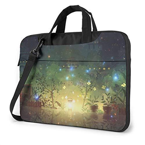 Laptop Shoulder Bag 14 Inch, Magic Plant Pattern Briefcase Protective Bag