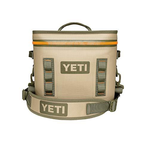 YETI Hopper Flip 12 Portable Cooler, Field Tan/Blaze Orange