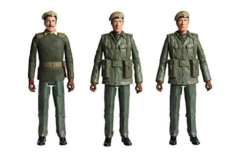 Juego de figuras de acción clásicas de Doctor Who 1971 de la U.N.I.T. Claws of Axos, incluye el sargento Benton, el capitán Yates & Brigadier Stuart Merchandise Third Doctor - Opciones de personaje