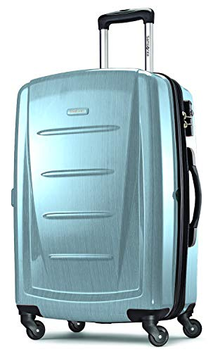 Samsonite Winfield 2 Hardside Expandable Luggage with Spinner Wheels, Ice Blue, Checked-Medium 24-Inch