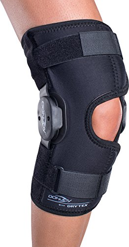 DonJoy Deluxe Hinged Knee Brace, Drytex Wrap Around, Open Popliteal, Medium