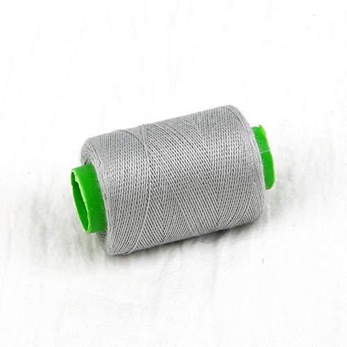 Mingi 1pc Tenacity Cotton Machine Bordado Hilos de Coser Hilo de Coser a Mano Craft Patch Inicio Suministros de Costura del Volante, Gris Claro
