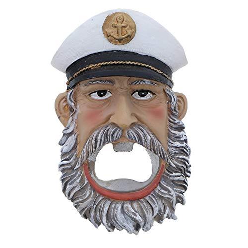 Sailor - Apribottiglie da birra con calamita, motivo: Capitan