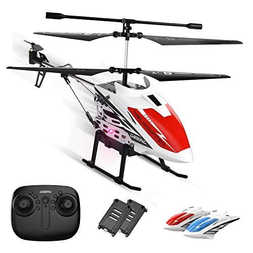 DEERC ヘリコプター ラジコン おもちゃ 室内 小型 安定性抜群 初心者向け バッテリー2個 飛行時間18分 ヘリコプターシェル2個付き 高度維持 ワンキー離陸/着陸 緊急停止 国内認証済み DE51