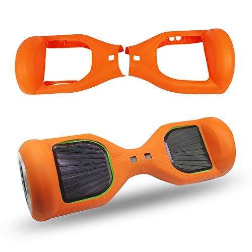 ABBY Protectora Funda de Silicona para 6.5' Smart Scooter Balance Patinete Electrico Hoverboard Cover (Naranja)