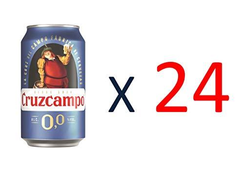 Bier Cruzcampo 0,0 Alkoholfrei 24x33cl (Pack 24 Dosen)
