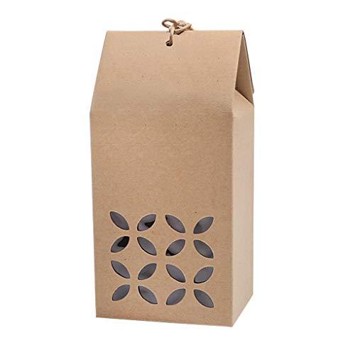 YJZQ 10 Stück Papiertüten Geschenkbox Geschenktüten Papiertragetaschen mit Bänder Kraftpapier Geschenktasche Papierbox für Geschenke Papiertaschen Kraftpapiertüten für Partys Geburtstag Mitgebsel