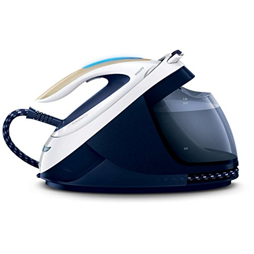 Philips GC9630/20 PerfectCare Elite Steam Generator Iron for Medium Family Basket Loads, with OptimalTEMP: No Fabric Burns Guaranteed, 6.7 Bar, 470 g Steam Boost, Navy