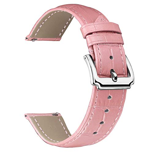BINLUN Genuine Leather Watch Bands Women Men Quick Release Leather Watch Straps Replacement with 12 Colors Option (10mm, 12mm, 14mm, 15mm, 16mm, 17mm, 18mm, 19mm, 20mm, 21mm, 22mm, 23mm)