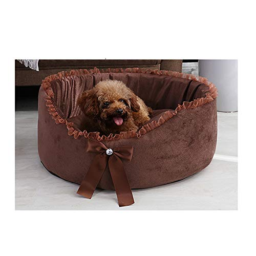 Dog Bed Mat met hond Kennel lade Pad met Bowknot Diamond Princess Stijl Gevuld Pp Katoen, Multi-Color, Vier seizoenen Universeel M BRON