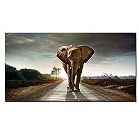 野生のアフリカの象の動物の風景画のポスターとプリントキャンバスアートスカンジナビアのモダンな壁の写真リビングルーム30x60cm(12x24in)