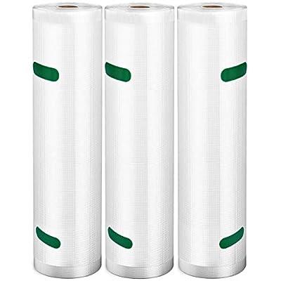 "VSADEY Vacuum Sealer Bags Rolls 3 Pack 11""x..."