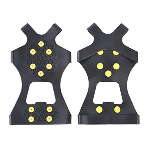 Bia Tobias Schutzhüllen, 1 Paar, für den Außenbereich, 10 Knöpfe, rutschfest, für EIS- und Schneeschuhe XL Bk-XL