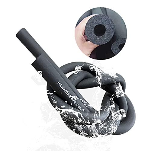 Isolante per Tubature Tubo in Schiuma ID 6mm-60mm Isolamento Tubi Condizionatore,Impermeabile Protezione Solare,Antigelo Tubo Isolante,Nero,1.8M (Size : 25mmx9mm(1x0.35inch))