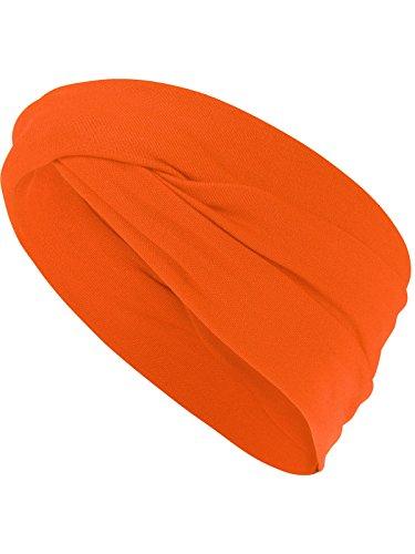 Harrys-Collection Haarband oder Stirnband in 16 Verschiedenen Unifarben Turban, Kopfgröße:Einheitsgröße, Farben:orange