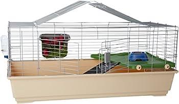 AmazonBasics Cage habitat avec accessoires pour petits animaux 124x68x52cm Géant