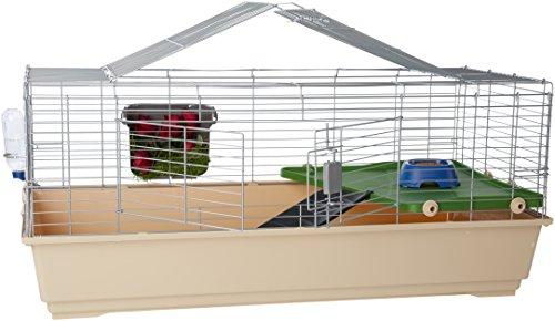 Amazon Basics Cage habitat avec accessoires pour petits animaux 124 x 68 x 52 cm Géant
